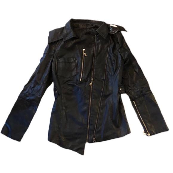 Asymmetrical TOV Faux Leather Jacket